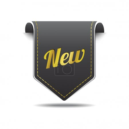 New Gold Black Label Icon Vector Design
