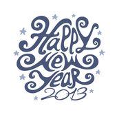 Happy new year 2013 typography design