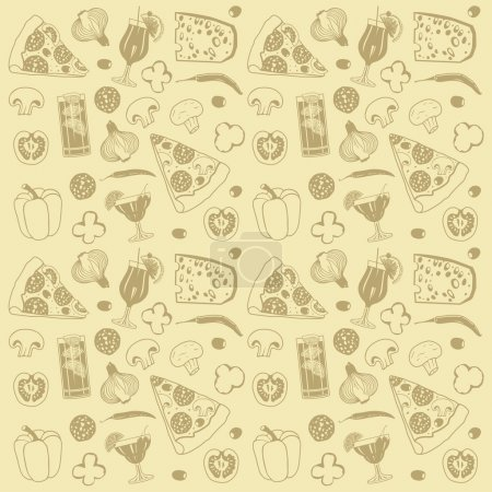 Illustration for Monochromatic bakery seamless pattern in simple style - Royalty Free Image