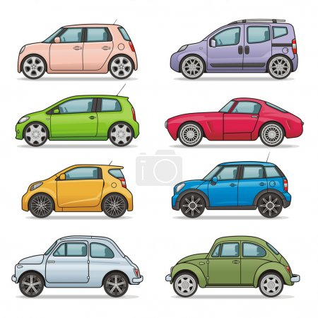 Illustration for Car icons set (Vector is available) - Royalty Free Image