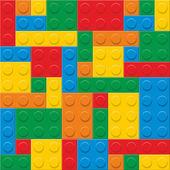 Seamless vector plastic construction blocks