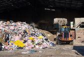 Odpadky v centru pro nakládání s odpady