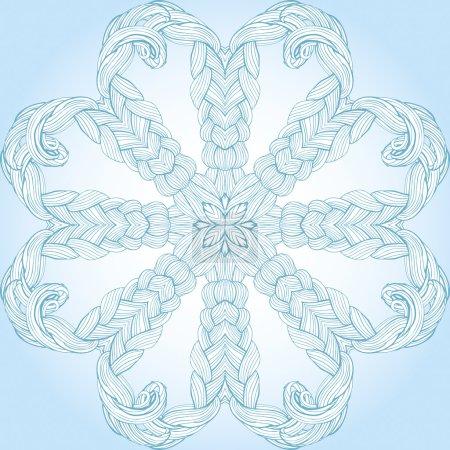 circular pattern with interlacing