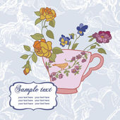 Vintage card with cup