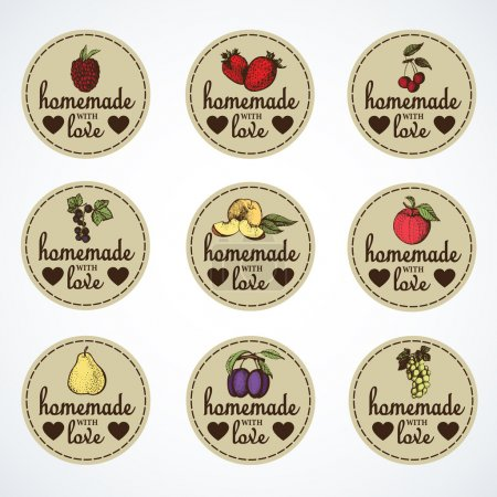 Labels for jars of homemade jam