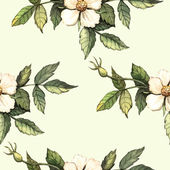 Vzor s akvarelem květiny boky