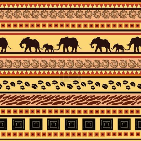 African ethnic decorative pattern