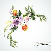 Watercolor vintage bouquet