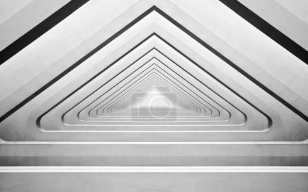 Photo for Modern concrete interior with arches in perspective - Royalty Free Image