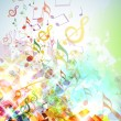 Постер, плакат: Abstract Shattered Music Notes Background
