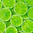 Background slices lime...