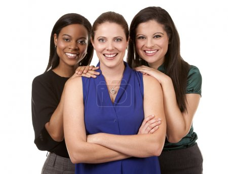 Photo for Group of women wearing office outfits on white isolated background - Royalty Free Image