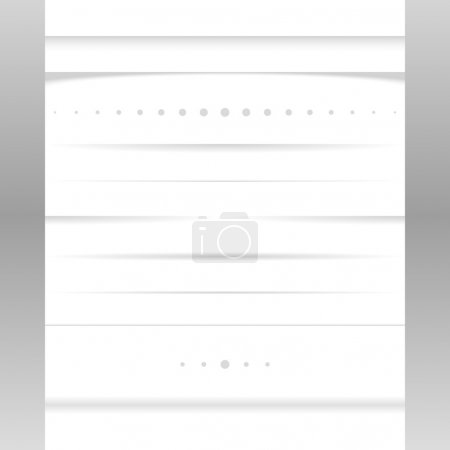 Illustration for Clean vector set of page shadows and dividers - Royalty Free Image