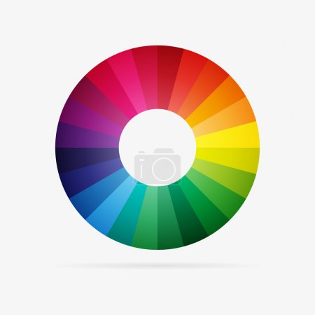 Illustration for Clean vector color spectrum modern symbol icon - Royalty Free Image