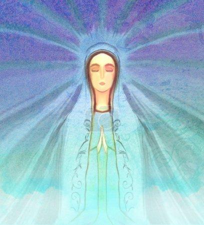 Photo pour Bienheureux portrait de Vierge Marie - image libre de droit