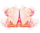 Vintage retro Eiffel-kártya