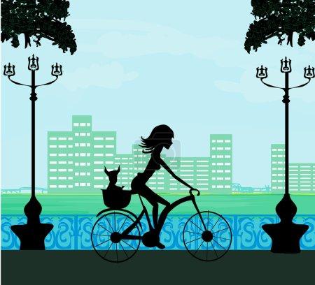 Happy Driving Bike with Cute Girl