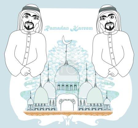 Muslim praying at Medina holy Islamic city
