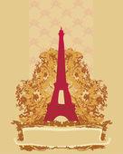Eiffel torony művészi háttér. vektoros illusztráció