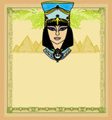 Egyptian queen Cleopatra  frame