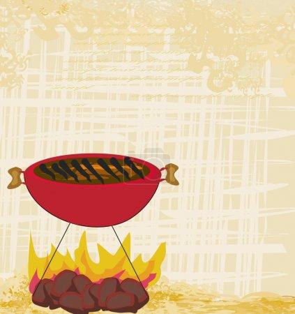 Vintage Barbecue Party Invitation