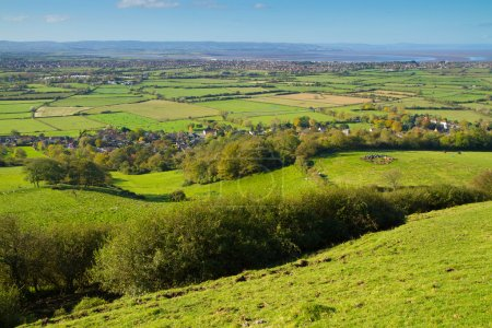 Towards the Bristol Channel. Brent Knoll is locate...