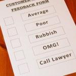 Fun Customer Service Feedback Form loaded with bad...