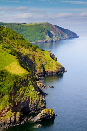 Coast of Great Britain at Lynton North Devon