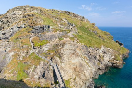 Tintagel Island Cornwall England where part of the...