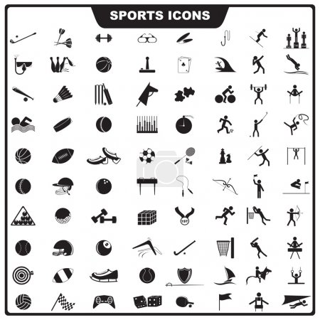Illustration for Vector illustration of set of sport icon - Royalty Free Image