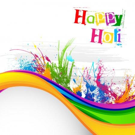 Illustration pour Illustration vectorielle du décor du festival Holi - image libre de droit