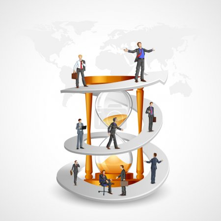 Businessmen in Growth Path