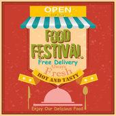 Food Festival Retro Poster
