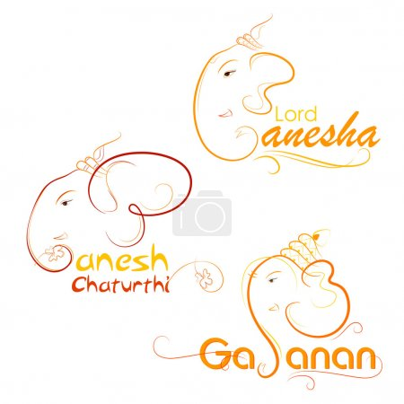 Illustration for Vector illustration of Lord Ganesha on abstract background - Royalty Free Image