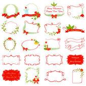 Vector illustration ofvintage style Christmas Decoration