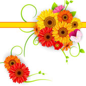Vector illustration of colorful Flower background