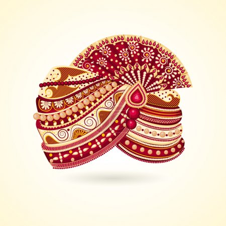 Vector illustration of colorful Indian turban for ...