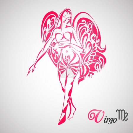 Illustration for Vector illustration of Virgo Zodiac Sign - Royalty Free Image