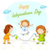 Kids skipping and celebrating Indian Independence