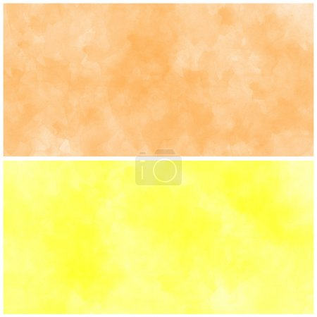 Photo for Set Of yellow and orange Abstract watercolor background - Royalty Free Image