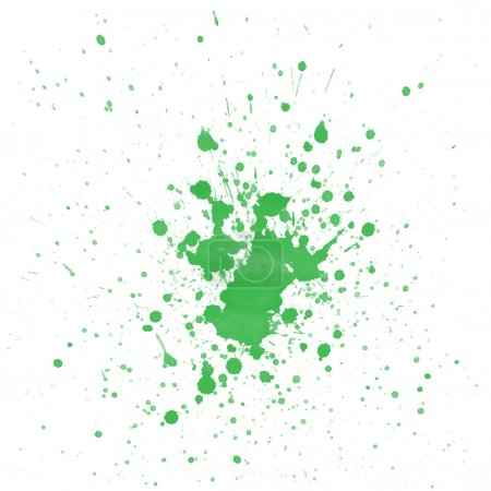 Photo pour Aquarelle verte éclabousse sur fond blanc - image libre de droit