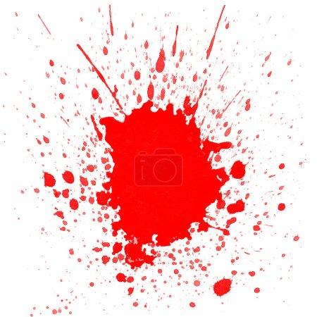 Photo pour Projections d'aquarelle rouge sur fond blanc - image libre de droit
