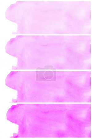 Set Of violet Abstract watercolor background