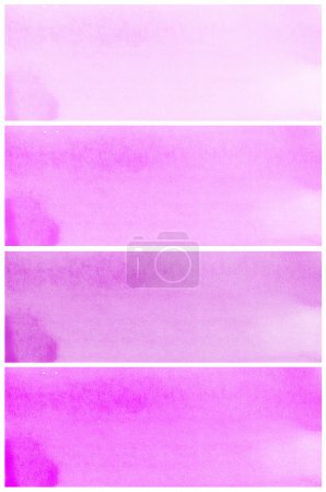 Photo for Set Of purple Abstract watercolor background - Royalty Free Image