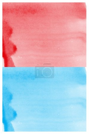 Set Of red and blue Abstract watercolor background