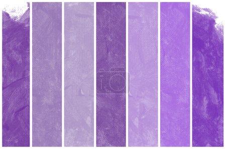 Photo pour Ensemble d'art abstrait de l'aquarelle violette peinture à la main fond - image libre de droit