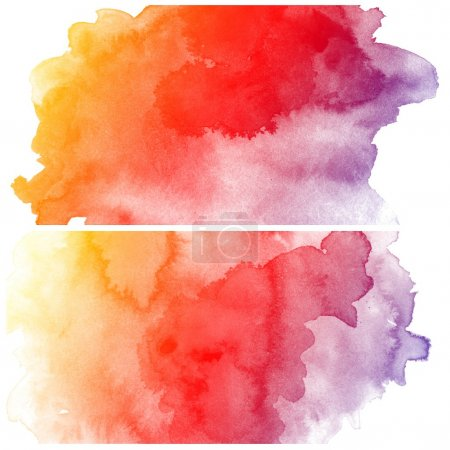 Photo for Abstract colorful water color art background hand paint on white background - Royalty Free Image