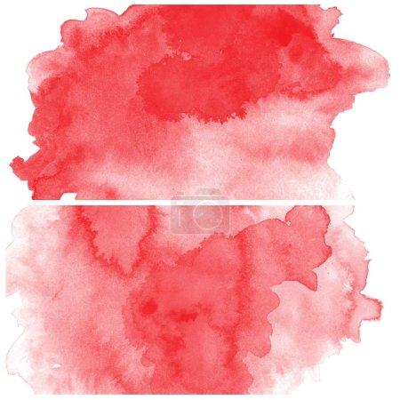Photo pour Abstrait coloré aquarelle art fond peinture à la main sur fond blanc - image libre de droit