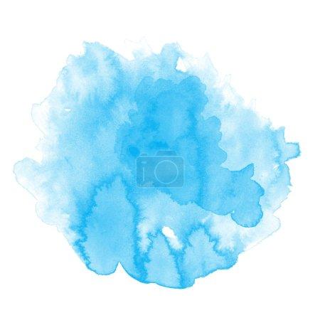 Photo pour Abstrait bleu aquarelle art fond peinture à la main - image libre de droit