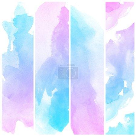 Photo pour Ensemble de couleur abstraite aquarelle art peinture à la main fond - image libre de droit